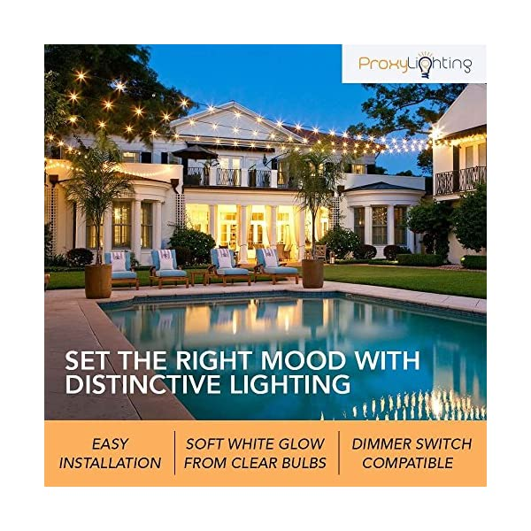 Proxy-Lighting-48-Foot-Weatherproof-Outdoor-String-Lights-UL-Listed-15-Hanging-Sockets-Perfect-Patio-Lights-Black-16-11S14-Incandescent-Bulbs-Included