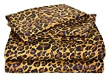 Way Fair Sheet Set California King Size Leopard Print 100% Cotton 600 Thread-Count (15'' Deep Pocket Drop) By