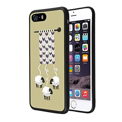 Amazon.com: Carcasa trasera de TPU para iPhone SE 5S 5 ...