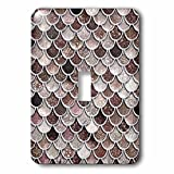 3dRose Uta Naumann Faux Glitter Pattern - Image of Sparkling Brown Luxury Elegant Mermaid Scales Glitter Effect - Light Switch Covers - single toggle switch (lsp_275445_1)