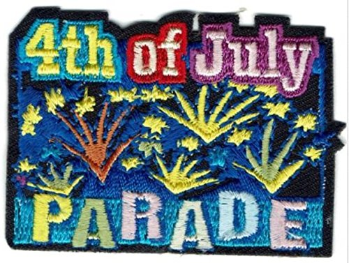Cub Girl Boy 4th of JULY PARADE Embroidered Iron-On Fun Patch Crests Badge Scout Guides