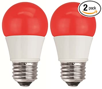 tcp 40w equivalent red led a15 regular shaped light bulbs nondimmable