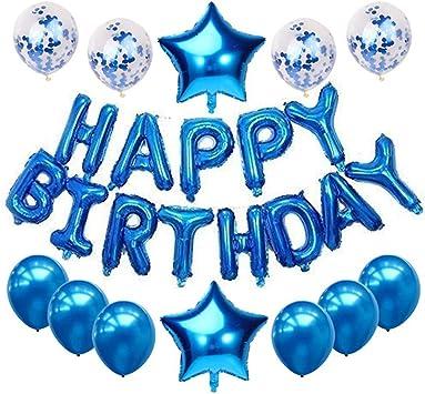 Amazon.com: Globos de feliz cumpleaños – Globos de látex ...