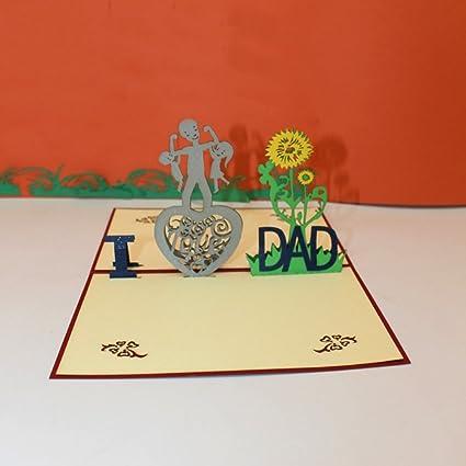 Tarjeta desplegable para el día del padre, tarjeta 3D hecha ...