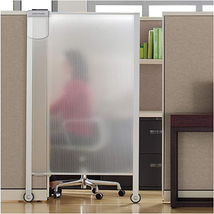 "Quartet Workstation Privacy Screen, 64"" x 38"", Cubicle, Office, Aluminum Frame (WPS2000)"