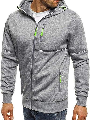 Men/'s Casual Hoodies Hooded Sweatshirt Zip Up Outwear Sweater Warm Coat Jacket