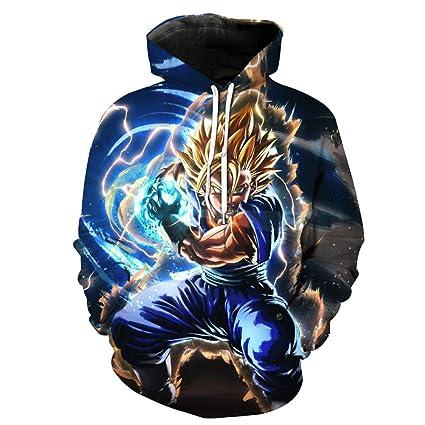 LBZD Unisex Moda 3D Sudaderas Impresas Dragon Ball Hoodie suéter gráfico Sudaderas con Capucha con Grandes
