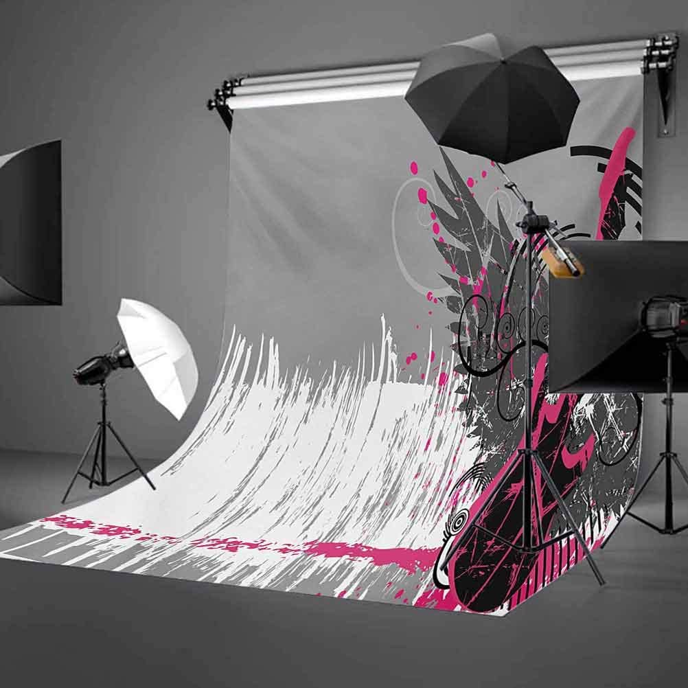 Stylized Ornamental Tribal Bird Plumage Aztec Hippie Design Background for Photography Kids Adult Photo Booth Video Shoot Vinyl Studio Props Feather 8x10 FT Photography Backdrop