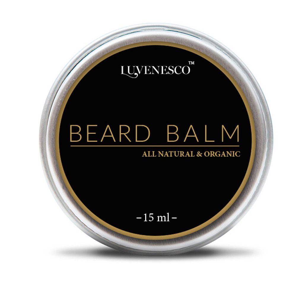 All Natural & Organic Beard Balm By Luvenesco. Daily beard Conditioner that Promotes Healthy Beard Growth – Natural Beard Care for Men – 15 ml