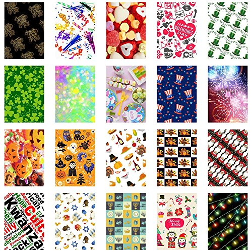 20 Sticker Frames for Fuji Instax Prints (Holiday)