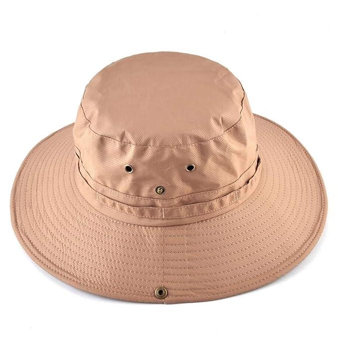 77b5d563 Fishing hat Bob Sun Hat Wide Brim Bucket Hat Men Women Summer Anti-UV Visor
