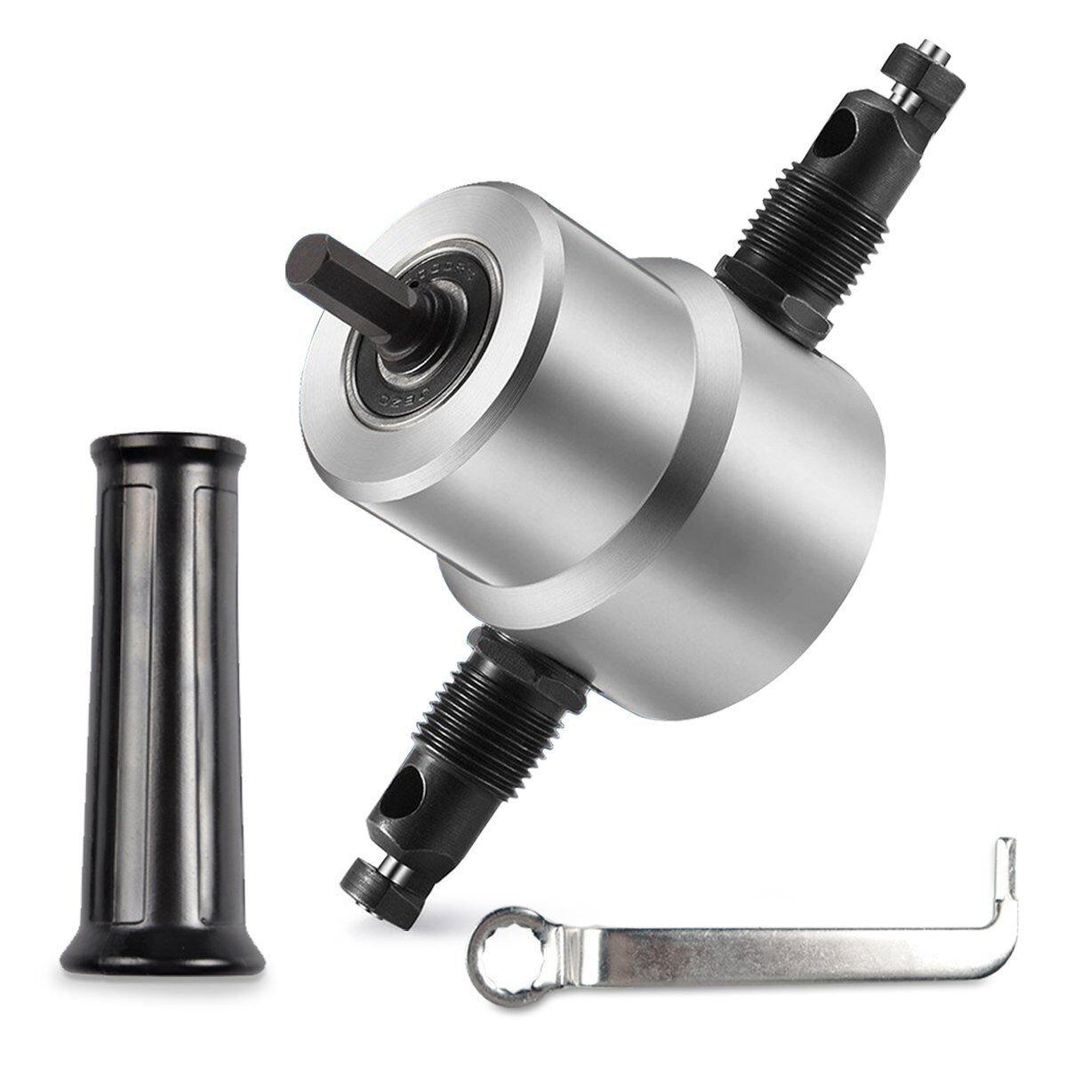 Sheet Metal Cutter, XINYI Double Head Metal Cutting Drill Attachment Tool,Repair Metal Sheet Nibbler Cutter,Blister card