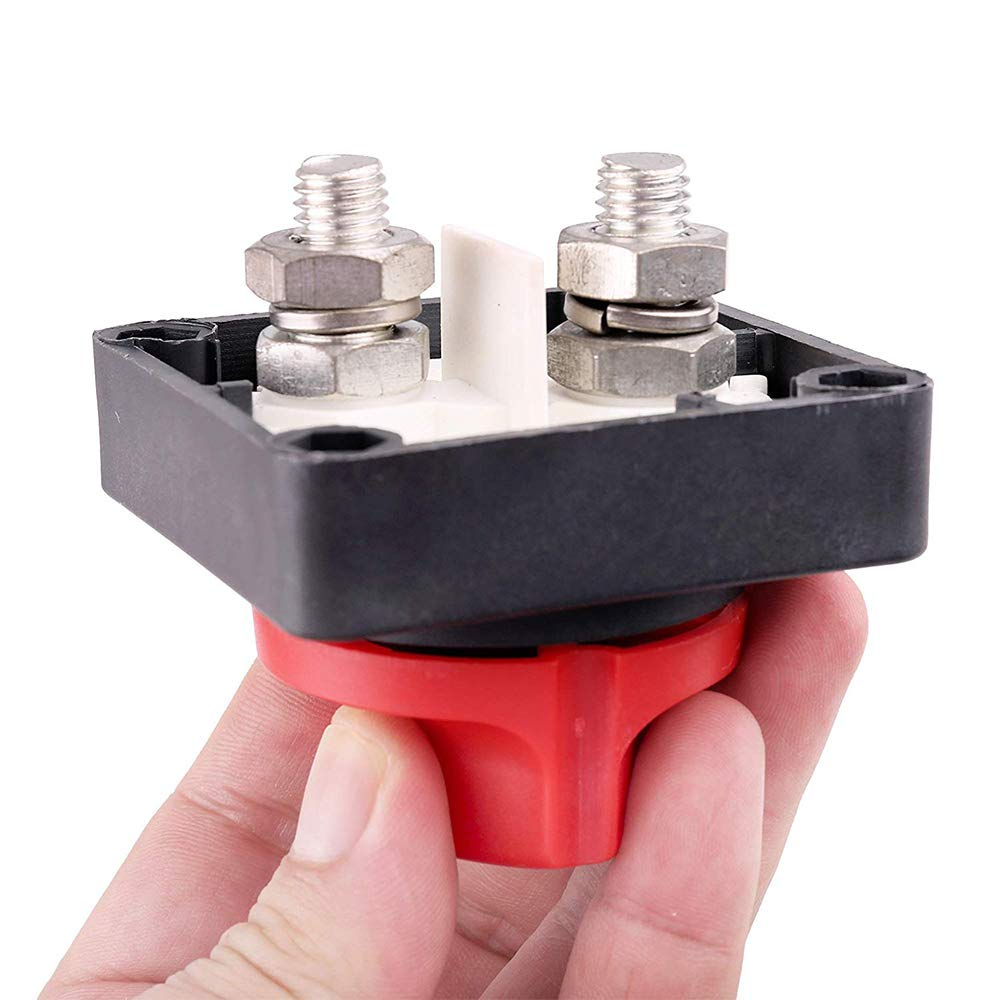 Schwer Pflanze Marine Handel Sedeta Batterietrenn Cut Off Kill Switch 500Amp Trennschalter 12-60V Auto-Boots-LKW fester Griff Key f/ür Auto