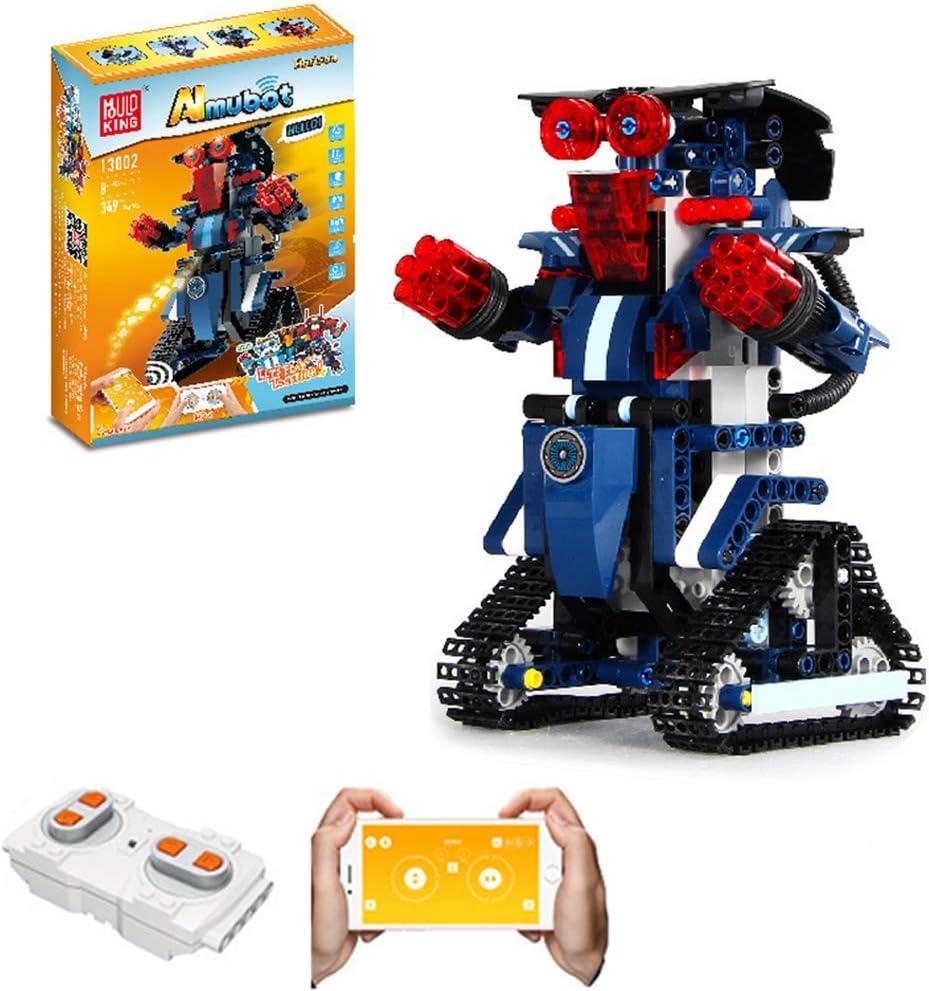 Gingerde Robot Juguetes para Niños-Bloque 333-392PCS Edificio con 2.4G Control Remoto Y Rotar 360 ° Oruga De Robot Inteligente para Niños Y Niñas De Juguete De Regalo De 6-12 Años Robot,B