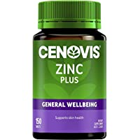 Cenovis Zinc Plus - Supports skin health and collagen formation - Maintains healthy prostate function in men, 150 Tablets