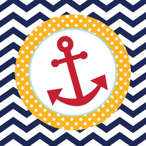 18-Count Paper Lunch Napkins, Ahoy Matey Anchor ()