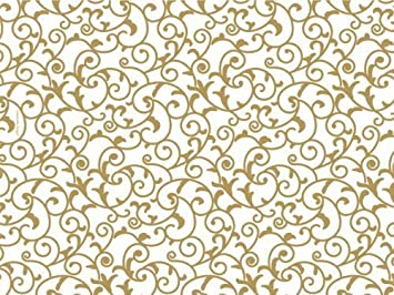 amazon com gold and white elegant scroll tissue paper 20 inch x 30