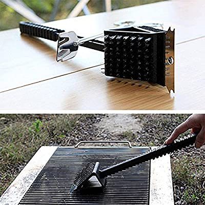 Outdoor Stainless Steel Barbecue Grill Brush Scraper Cleaning Tool BBQ Cleaner by ACuteLittleDuck