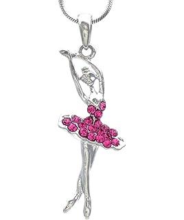 Amazon pammyj girls pink crystal dancing ballerina charm soulbreezecollection light pink dancing ballerina dancer ballet pendant necklace charm aloadofball Choice Image
