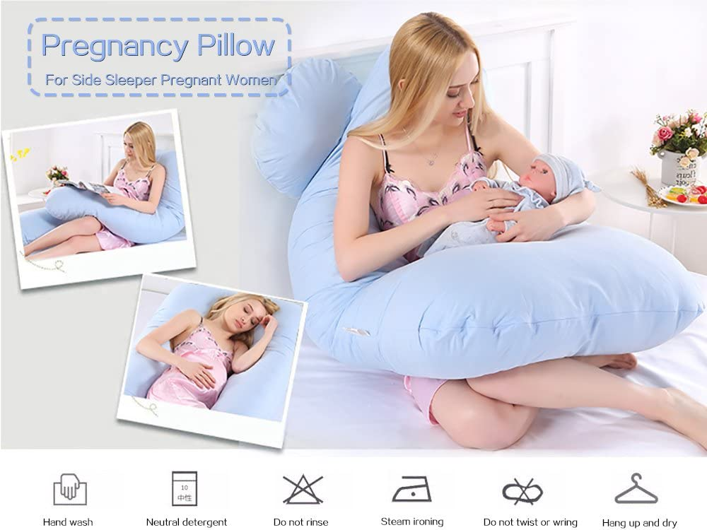 Robolife Full Body Pregnancy Pillow for Side Sleeper Pregnant Women White