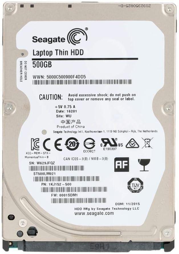 Seagate ST500LM000 SSHD Disque Dur Hybride 500 Go 5400 TR//Min 64 Mo SATA 6,0 Go//s 2,5 SSD
