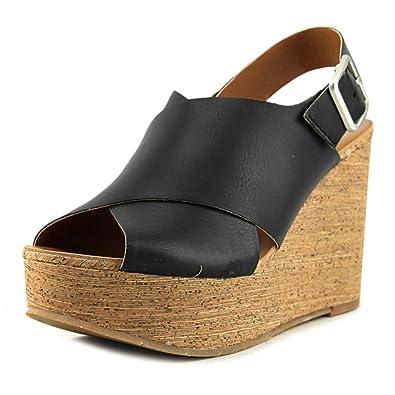 BC Footwear Womens Cougar II Wedge Pump Black Size 80
