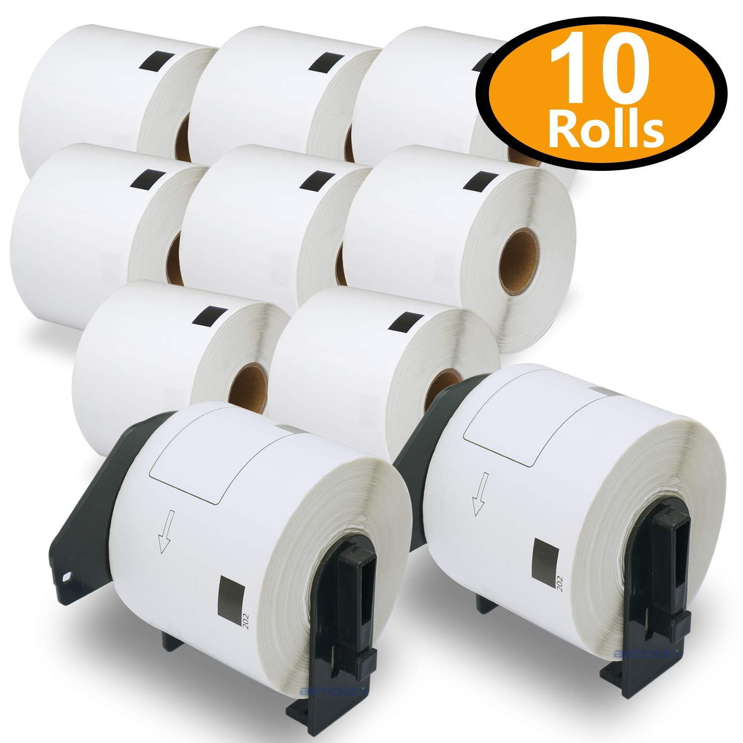 10PK Compatible Brother DK-11202 Shipping Labels 62mm x 100mm 3000 Labels With 2 Refillable Cartridge