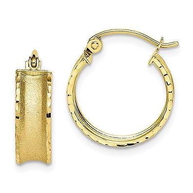 88844d08f7b7a Amazon.com: 10k Yellow Gold Hoop Earrings Ear Hoops Set Fine Jewelry ...