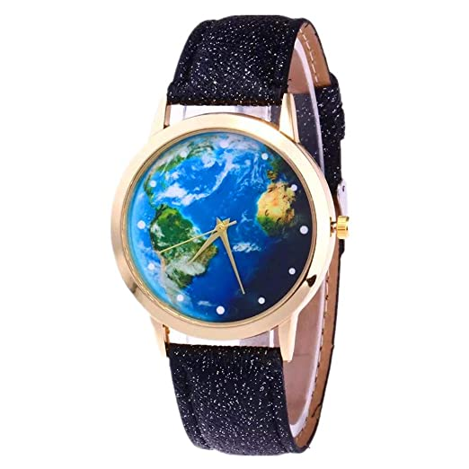 Watch With World Map Amazon.com: MINILUJIA Ocean 40mm Face Unique Cool Quartz Watch