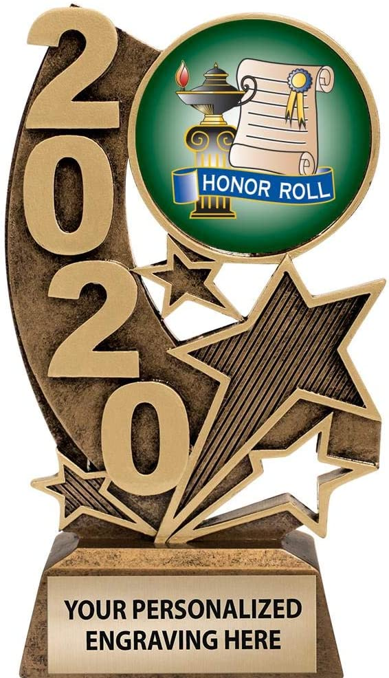 Gold Honor Roll Trophies 6 H 2020 Resin Honor Roll Trophy Award Prime