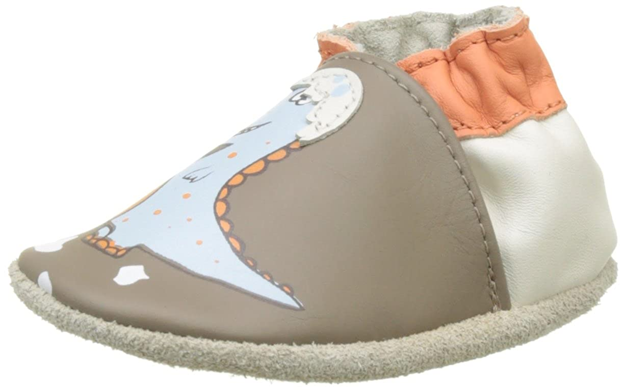 Robeez Funny Dino, Zapatillas de Estar por casa para Bebé s Zapatillas de Estar por casa para Bebés (Marron 9) 17/18 EU 565980-10