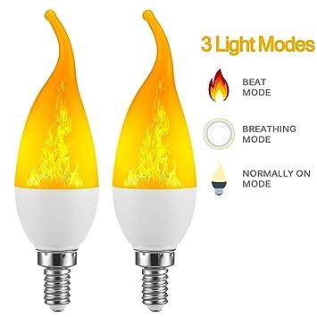 Justdolife Bombilla De Llama E12 Bombilla LED para Bomberos De Bajo Consumo para Decoración del Hogar