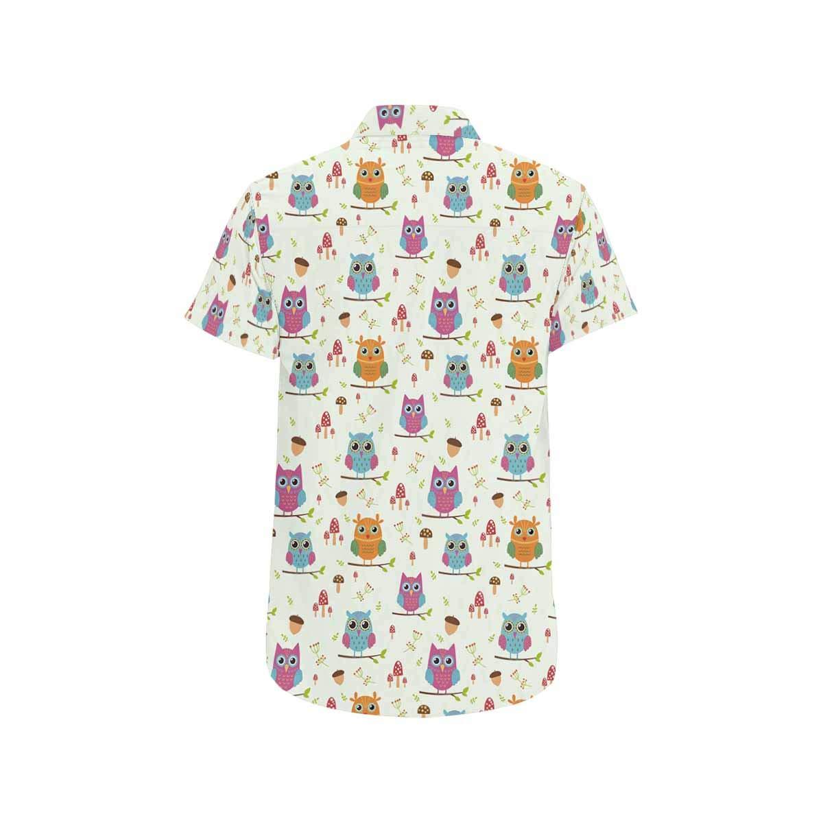 InterestPrint Mens Botton Up Shirt Cute Orange Fruits T Shirts for Regular Fit