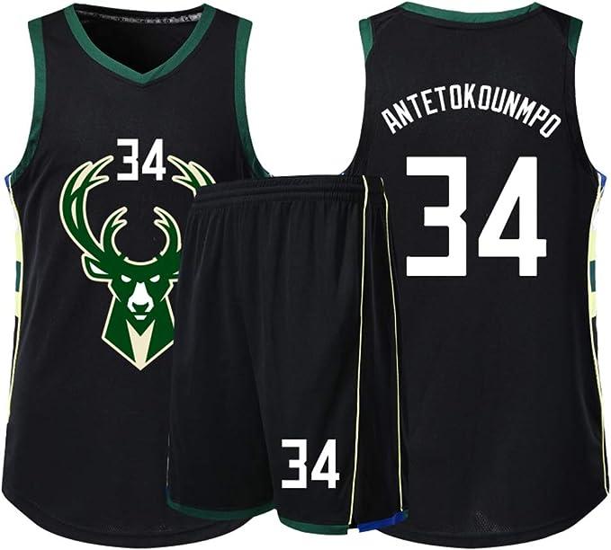 LCY Camiseta de Baloncesto de los Hombres - Bucks de la NBA Jersey ...