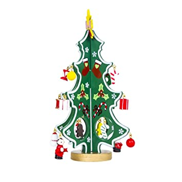 Albero Di Natale Legno Fai Da Te.Pandada Ornamenti Per Alberi Di Natale Legno Dell Albero Di Natale