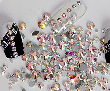 ss20 576pcs, Sapphire Jollin Glue Fix Crystal AB FlatBack Rhinestones