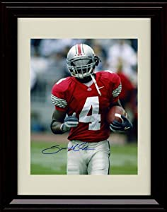Framed Santonio Holmes Autograph Replica Print - Ohio State Buckeyes- After The Catch