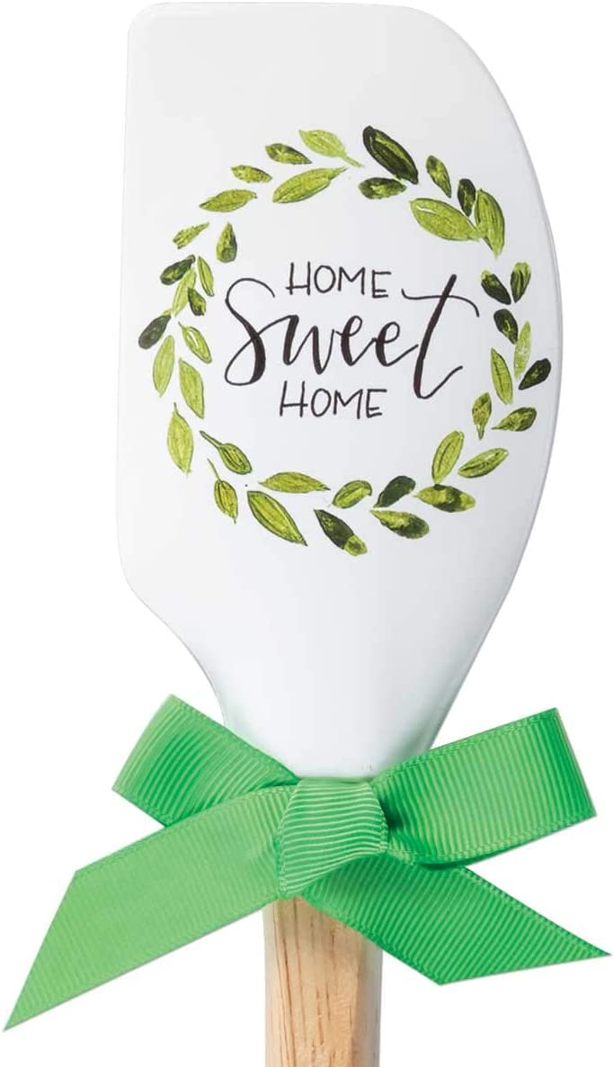 Brownlow Gifts Vintage Kitchen Silicone Spatula, 12.5-Inch, Home Sweet Home