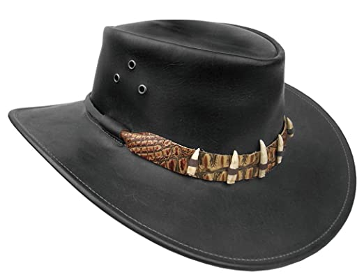 Kakadu Crocodile Dundee Leather Hat a013f2ad30c7