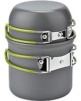 Cozyswan Picnic Camping Hiking Backpacking Pot Pan Cookware Outdoor Cooking bowl set (2pcs)