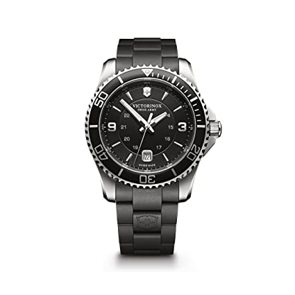Victorinox Swiss Army Men's 241698 Maverick Watch with Black Dial and Black Rubber Strap