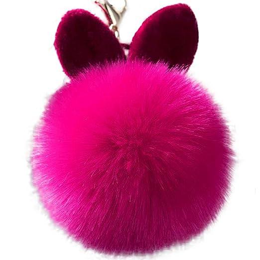 TREESTAR Llavero con diseño de conejo de peluche, para bolso ...
