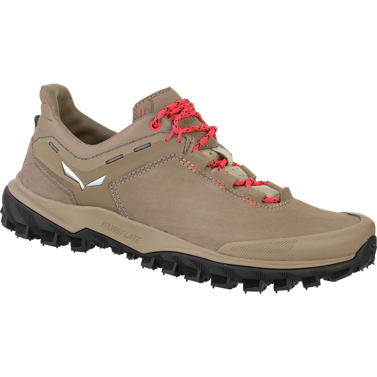 Salewa Women's Wander Hiker Leather Hiking Shoe, Other Nut/Hot Coral, 9