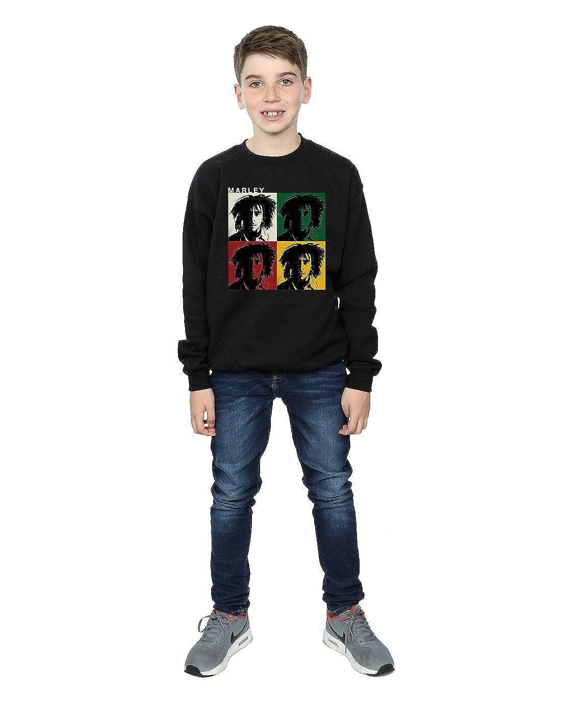 Bob Marley niños Colour Blocks Camisa De Entrenamiento: Amazon.es: Ropa y accesorios