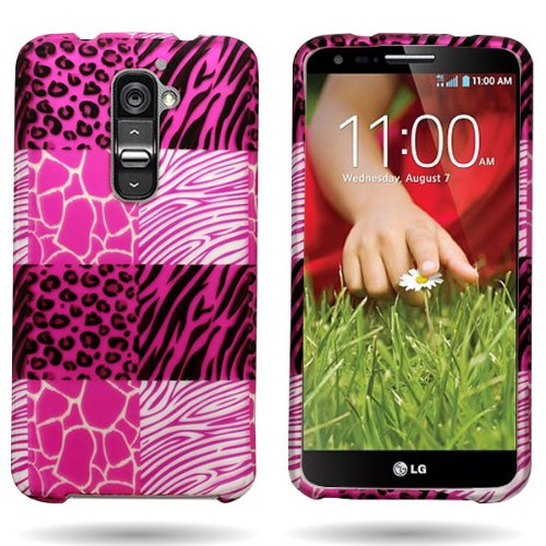 CoverON Slim Hard Case for LG G2 ATT TMobile Sprint with Cover Removal Tool - (Pink Exotic Skins)