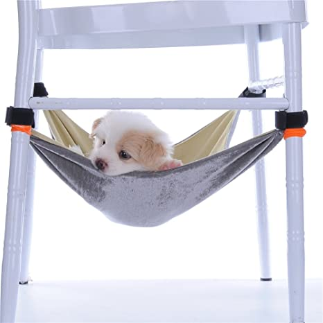 MING de mascota gato hamaca cama Handy migic cinta correas suave franela de algodón en la