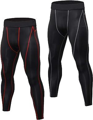 Mallas Hombre Running Leggings Deporte Pantalones Largos