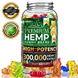 Hemp Gummies Premium XXL 300000 High Potency - Fruity Gummy Bear with Hemp Oil | Natural Hemp Candy Supplements for Pain, Anxiety, Stress & Inflammation Relief | Promotes Sleep & Calm Mooв