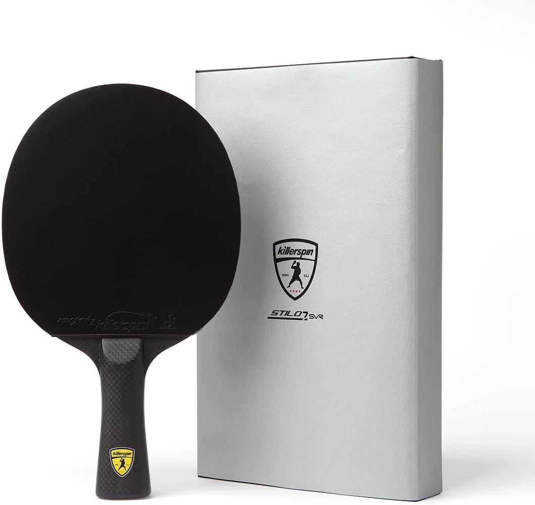 Killerspin Stilo7 SVR Pala de Tenis de Mesa, Unisex-Adult, Negro, One Size