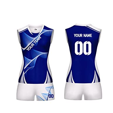 6f53b5eab6d9 M-W Sports Custom Volleyball Jerseys for Women - Make Your Own Team  Volleyball Jersey Set with Name and Number